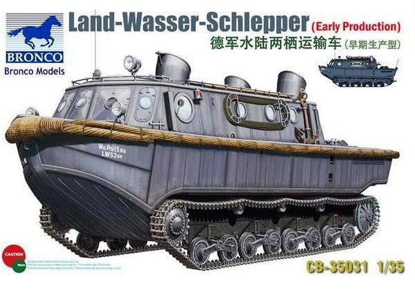 CB35031 - Bronco 1/35 WWII Land Wasser Schlepper ( LWS ) Amphibious Tracked Vehicle Early Production