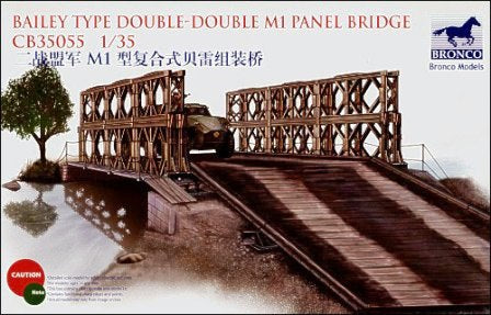 CB35055 - Bronco 1/35 WWII Allied Bailey Type Double M1 Panel Bridge