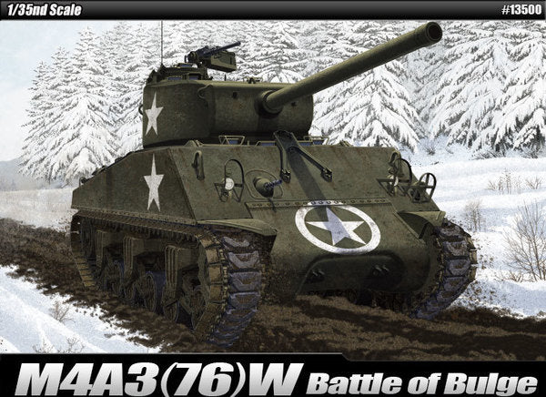 ACA13500 - Academy 1/35 M4A3 Sherman - Battle of the Bulge
