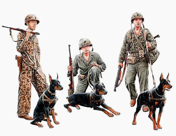 MB35155 (1/35) US Marines Service Dogs WWII
