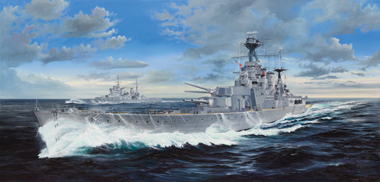 "03710 - Trumpeter 1/200 HMS ""HOOD"" Battleship w/Full Metal Upgrade Set"