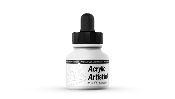 60.001 - Acrylic Artist Ink - 30 ml - White