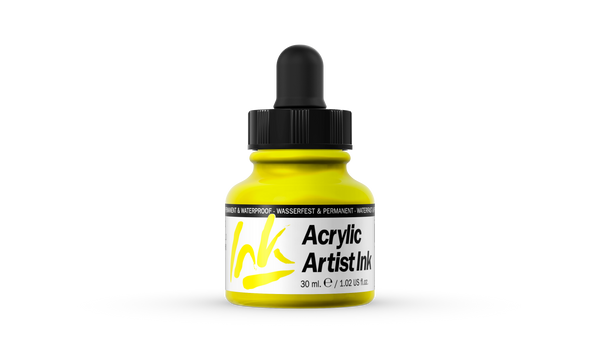 60.002 - Acrylic Artist Ink - 30 ml - Process Yellow