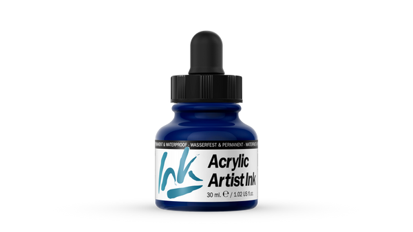 60.008 - Acrylic Artist Ink - 30 ml - Prussian Blue