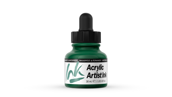 60.013 - Acrylic Artist Ink - 30 ml - Dark Green
