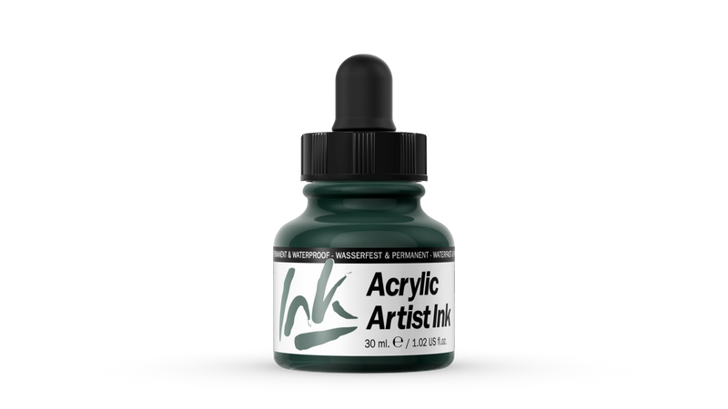 60.014 - Acrylic Artist Ink - 30 ml - Olive Green
