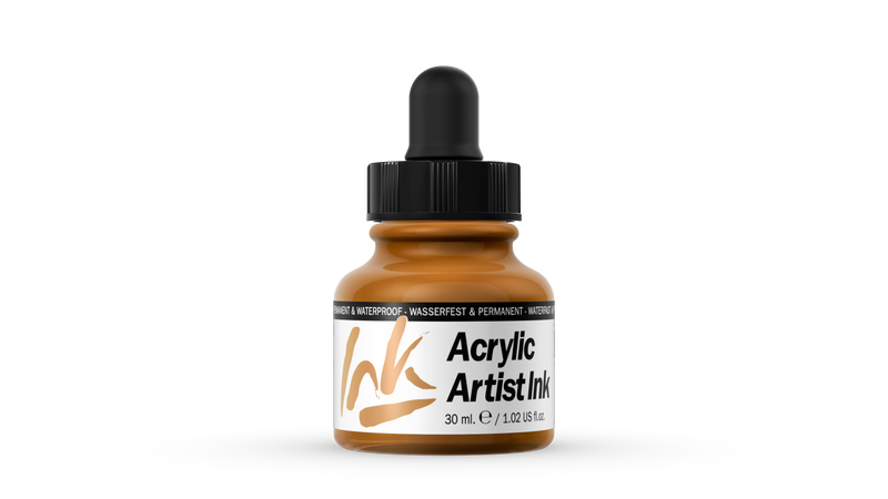 60.015 - Acrylic Artist Ink - 30 ml - Indian Yellow