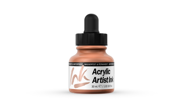 60.016 - Acrylic Artist Ink - 30 ml - Raw Siena