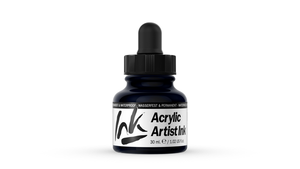 60.019 - Acrylic Artist Ink - 30 ml - Black
