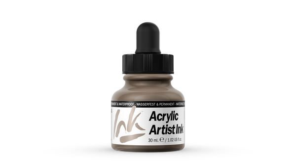 60.021 - Acrylic Artist Ink - 30 ml - Old Silver