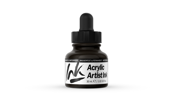 60.024 - Acrylic Artist Ink - 30 ml - Black Pearl