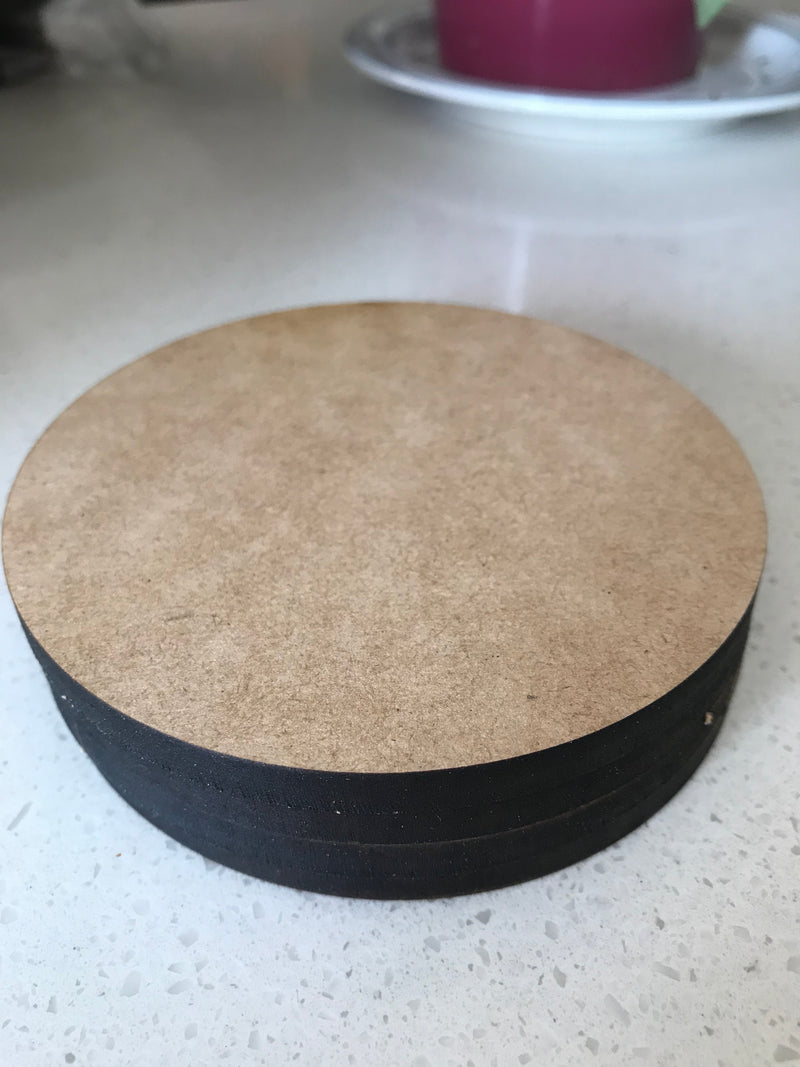6 mm - Laser Cut Coasters - Round - 4 in a pack