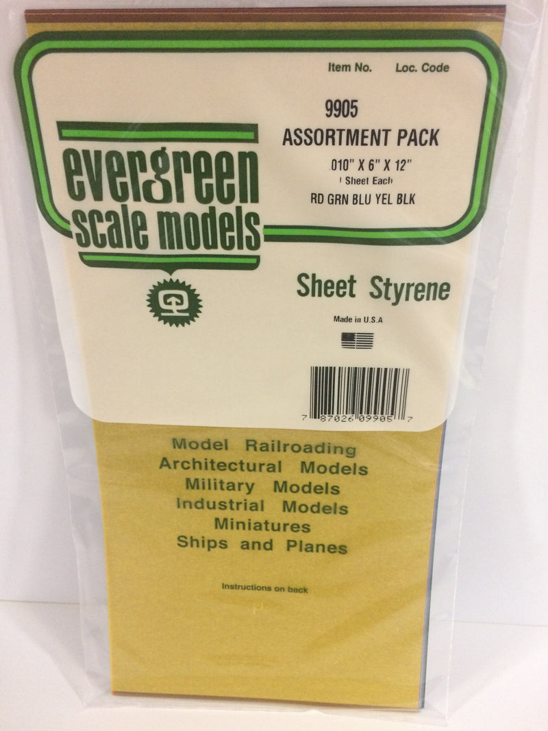 EVE9905 Colored Sheet Styrene .26mm x 150 x 300 (5)