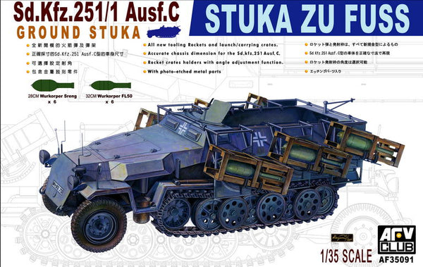 AF35091	- AFV Club 1/35 Sd.Kfz.251/1 Ausf.C Stuka Zu Fuzz Heavy Rocket Carrier