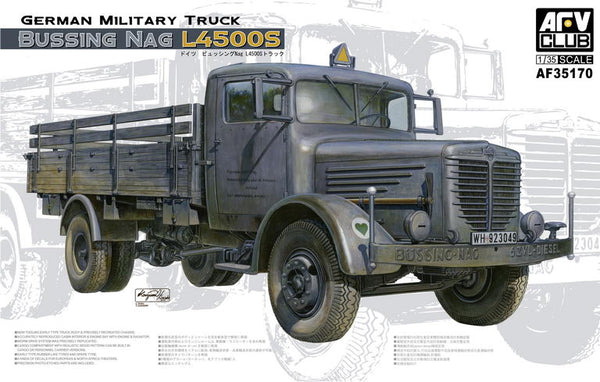 AFV35170 - AFV Club 1/35 German Bussing NAG L4500S Military Truck