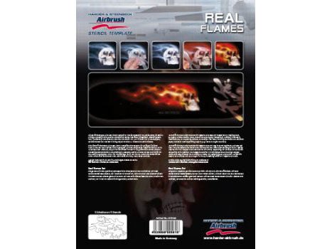 410144 - Stencil Real Flames, set 1 Template (6 part)