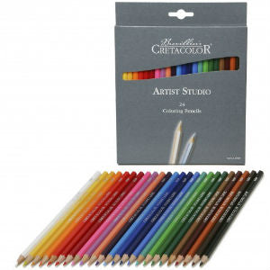 Cretacolour Studio Coloured Pencils 24