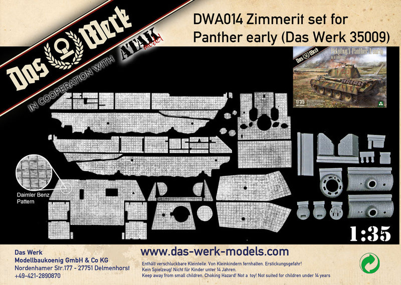 DWA014 - Das Werk - Zimmerit set for Panther early