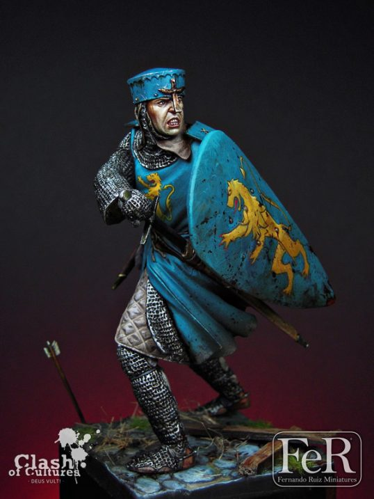 COC00009 - French Knight Albigensian Crusade, 1209 (Scale 75 mm)