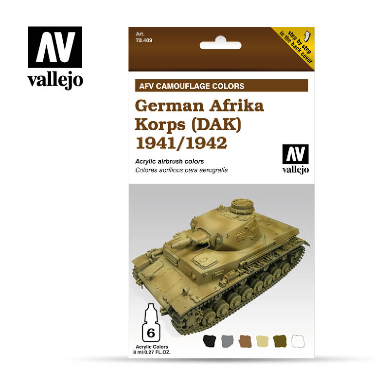 78.409 AFV German Afrika Korps 1941/42 (DAK) (6 x 8ml)