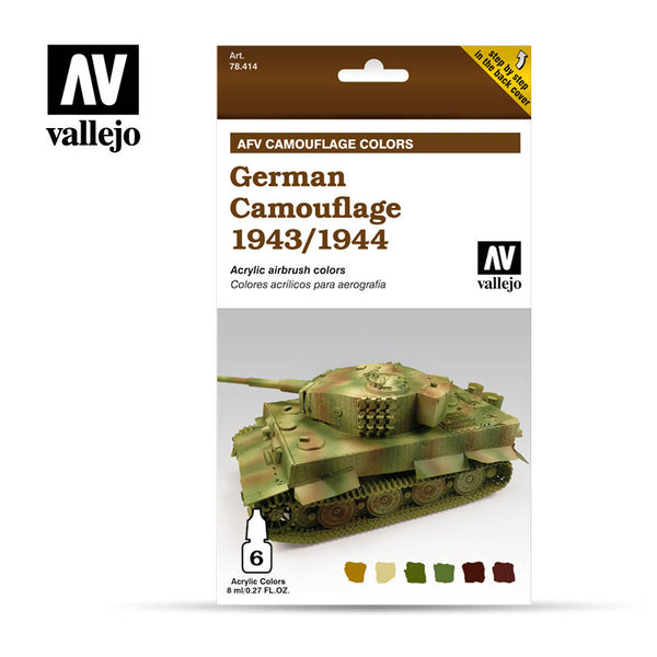 78.414 AFV German Camouflage 1943/1944  (6 x 8ml)