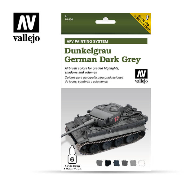 78.400 AFV German Dark Grey Armour Painting System (6 x 8ml)