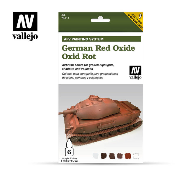 78.411 AFV German Red Oxide Armour Painting System (6 x 8ml)