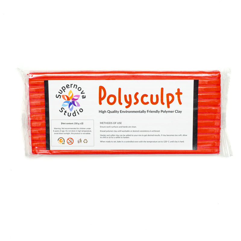 Polysculpt Polymer Clay - RUBY RED 250g