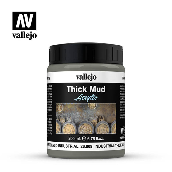 26.809  Industrial Thick Mud 200 ml - Vallejo Diorama Effects - Supernova Studio