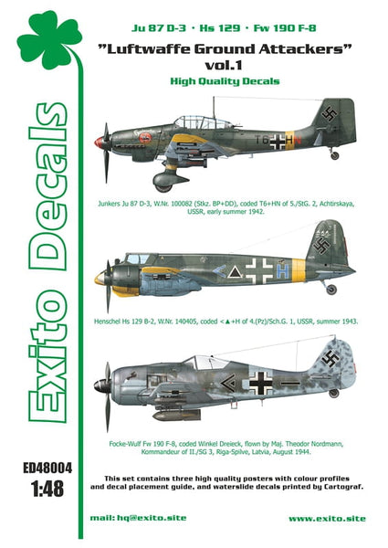 ED48004 - Luftwaffe Ground Attackers Vol 1 -  1:48