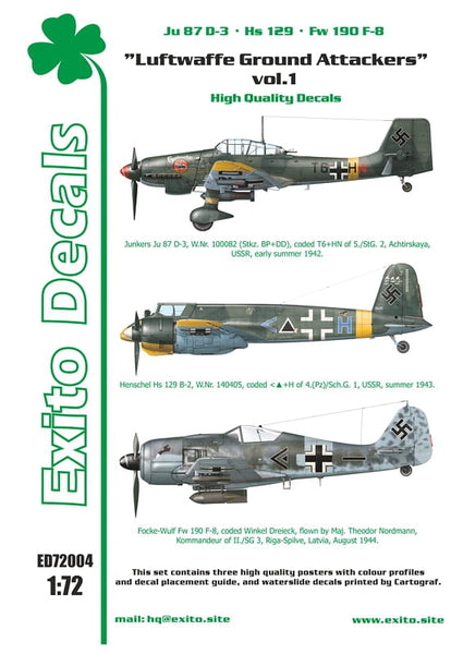 ED72004 - Luftwaffe Ground Attackers Vol 1 -  1:72