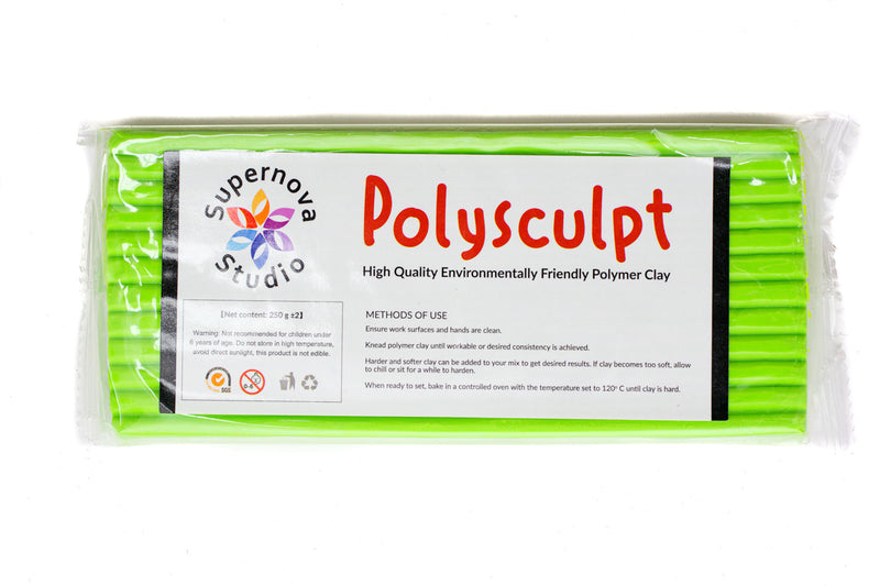 Polysculpt Polymer Clay - CHARTREUSE GREEN 250g