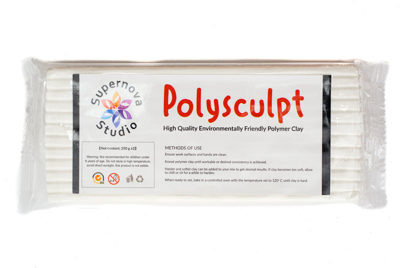Polysculpt Polymer Clay - ICE WHITE 250g