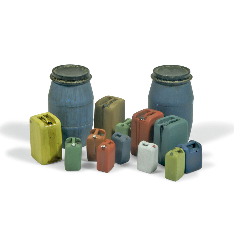 SC211 - Assorted Modern Plastic Drums 2 -  Size 1:35 Scale - Vallejo Scenics