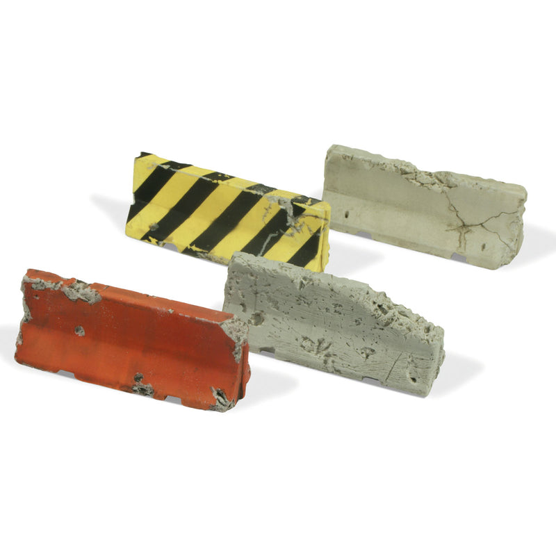 SC215 - Damaged Concrete Barriers -  Vallejo Scenics