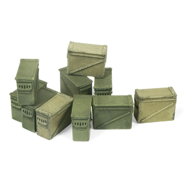 SC221 - Large Ammo Boxes 12.7 mm -  Vallejo Scenics