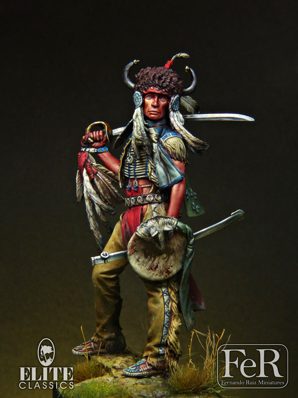 ELI00019 - Sioux Dakota Warrior, 1876 (Scale 75 mm)