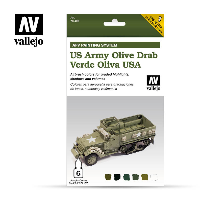 78.402 AFV US Army Olive Drab Armour Painting System (6 x 8ml)