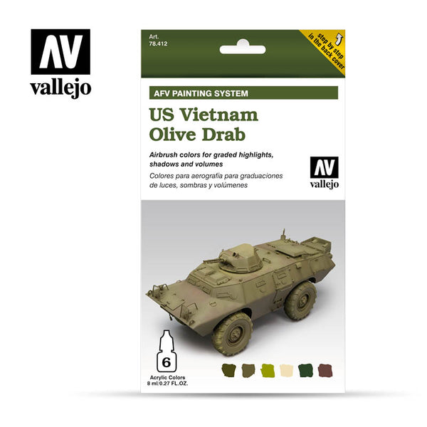 78.412 AFV US Vietnam Olive Drab Set (6 x 8ml)