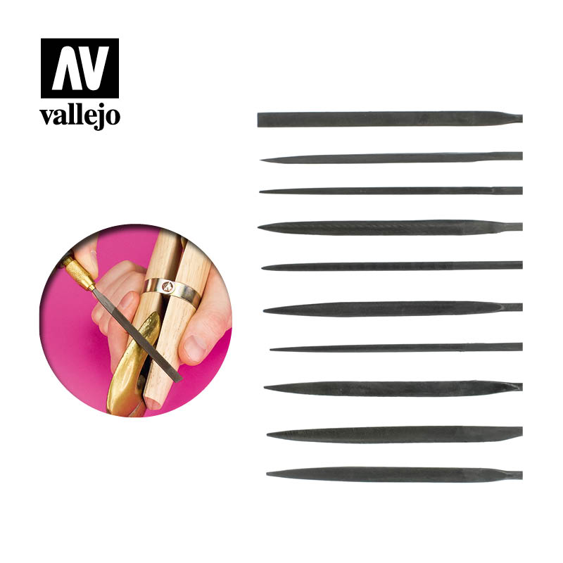 T03001 - Budget Needle File Set (10) - Vallejo Tools