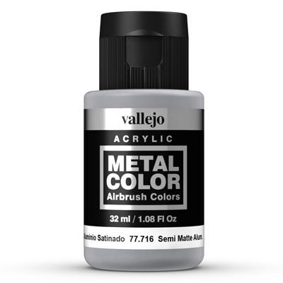 77.716 Semi Matte Aluminium  - Vallejo Metal Color - Supernova Studio