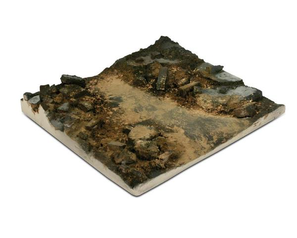 SC002  Rubble Street Section 14 x 14 - Diorama Effects - Supernova Studio