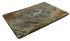SC102  Wooden Airfield Surface 31 x 21 - Diorama Effects - Supernova Studio