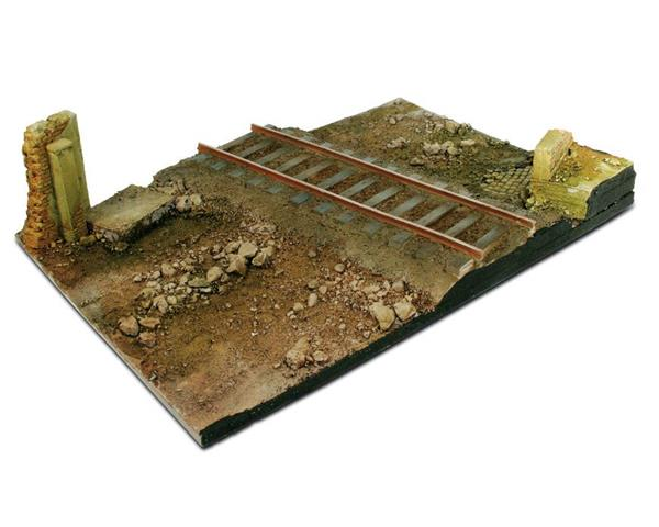 SC104 Country Road Cross with Railway Section 31 x 21 - Diorama Effects - Supernova Studio