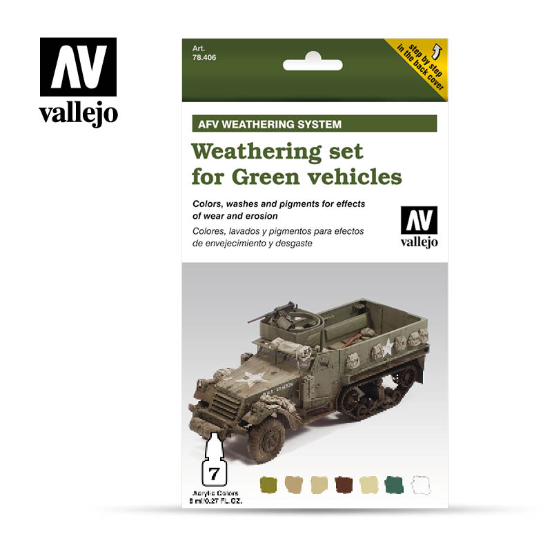 78.406 Weathering for Green Vehicles (6 x 8ml) plus 10 ml