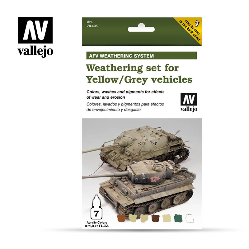 78.405 Weathering Yellow & Grey Vehicles (6 x 8ml) plus 10 ml