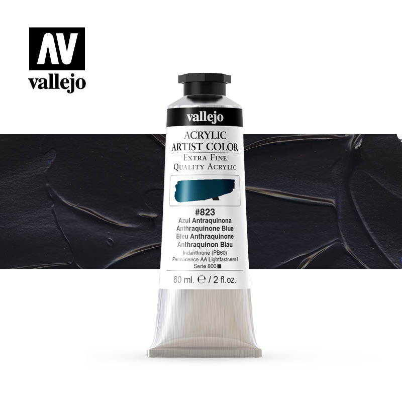 16.823 - Acrylic Artist Color - Anthraquinone blue - 60 ml