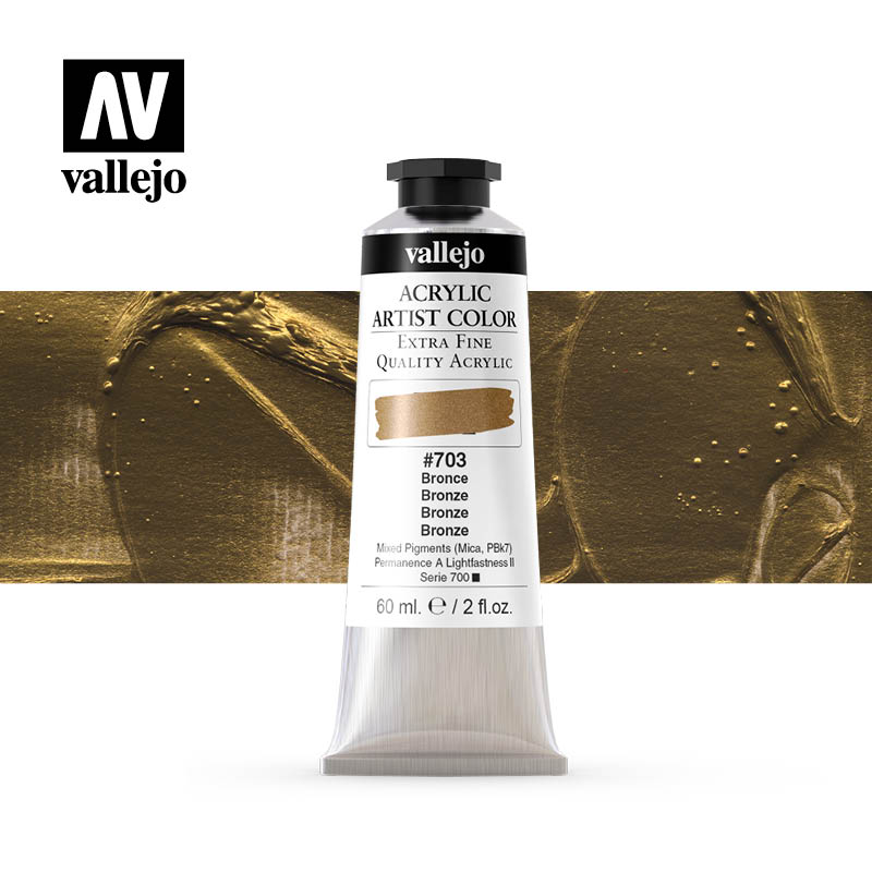 16.703 - Acrylic Artist Color - Bronze (Iridescent) - 60 ml