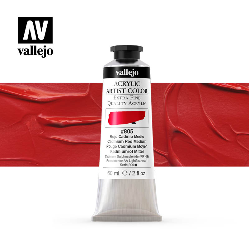 16.805 - Acrylic Artist Color - Cadmium Red Medium - 60 ml