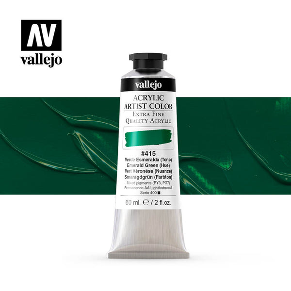 16.415 - Acrylic Artist Color - Emerald Green (Hue) - 60 ml
